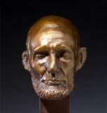 Click to learn more about our museum quality bronze Lincoln Mills life Mask