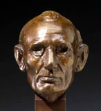 Click to learn more about our museum quality bronze Lincoln Volk life Mask